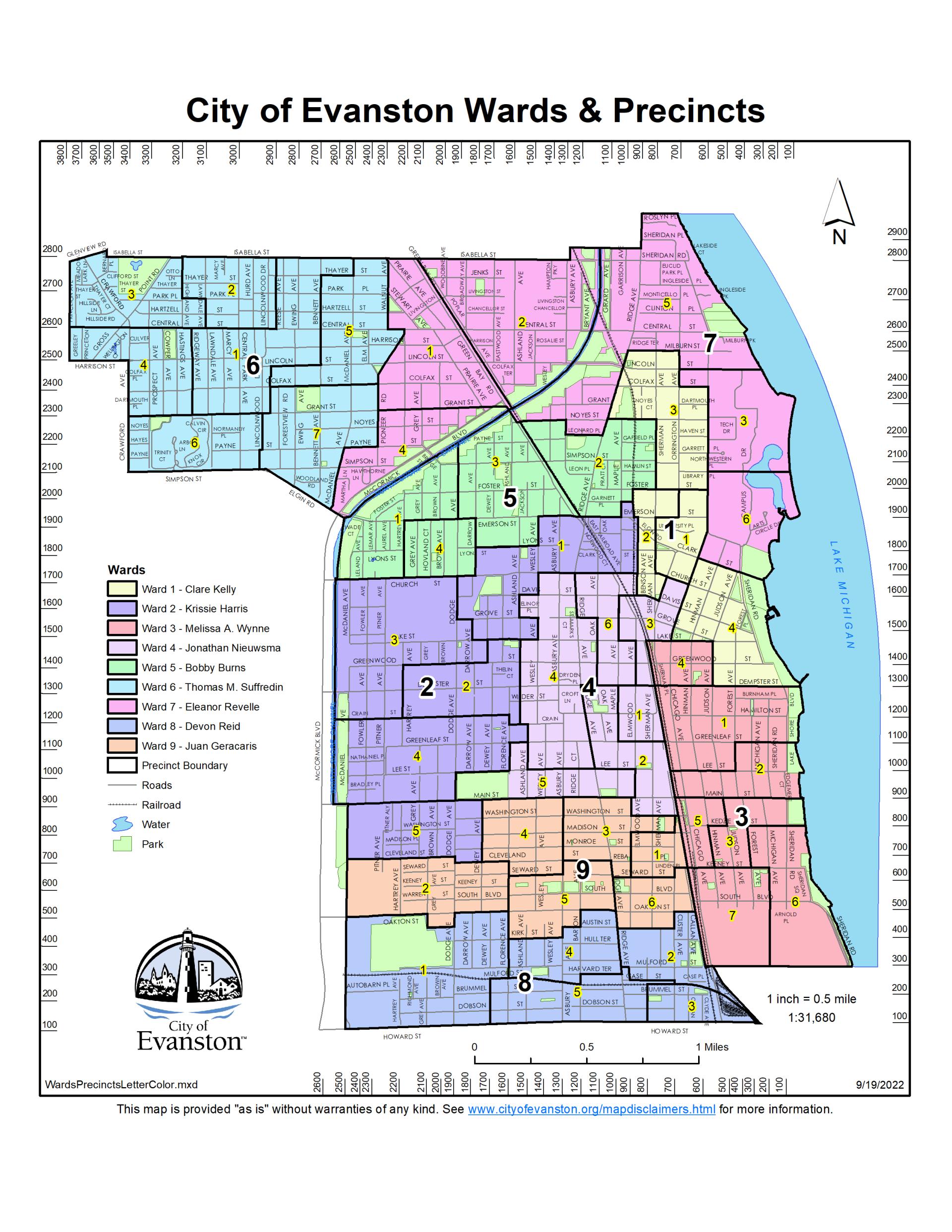 Permit Parking Chicago Map.Maps City Of Evanston