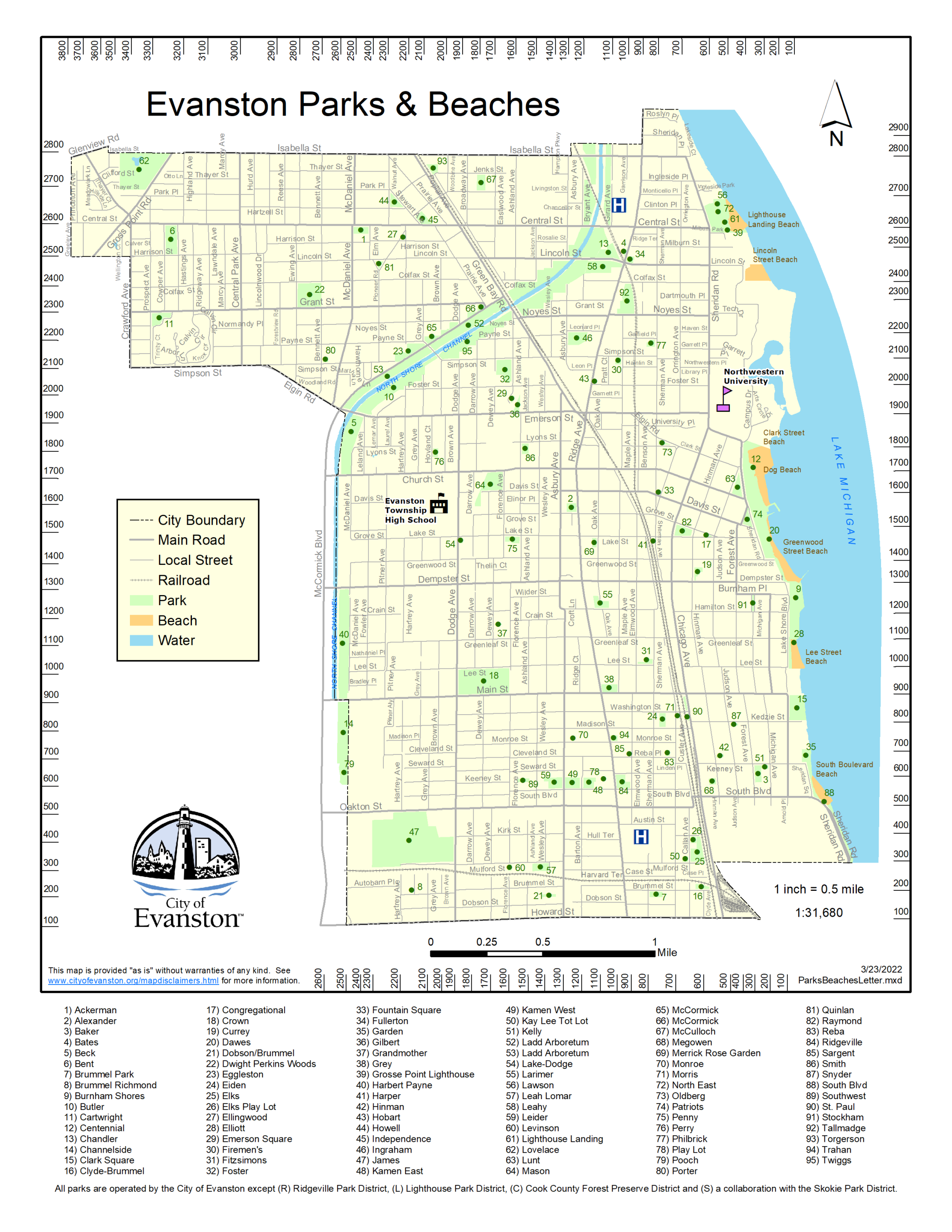 Maps | City of Evanston Map B on