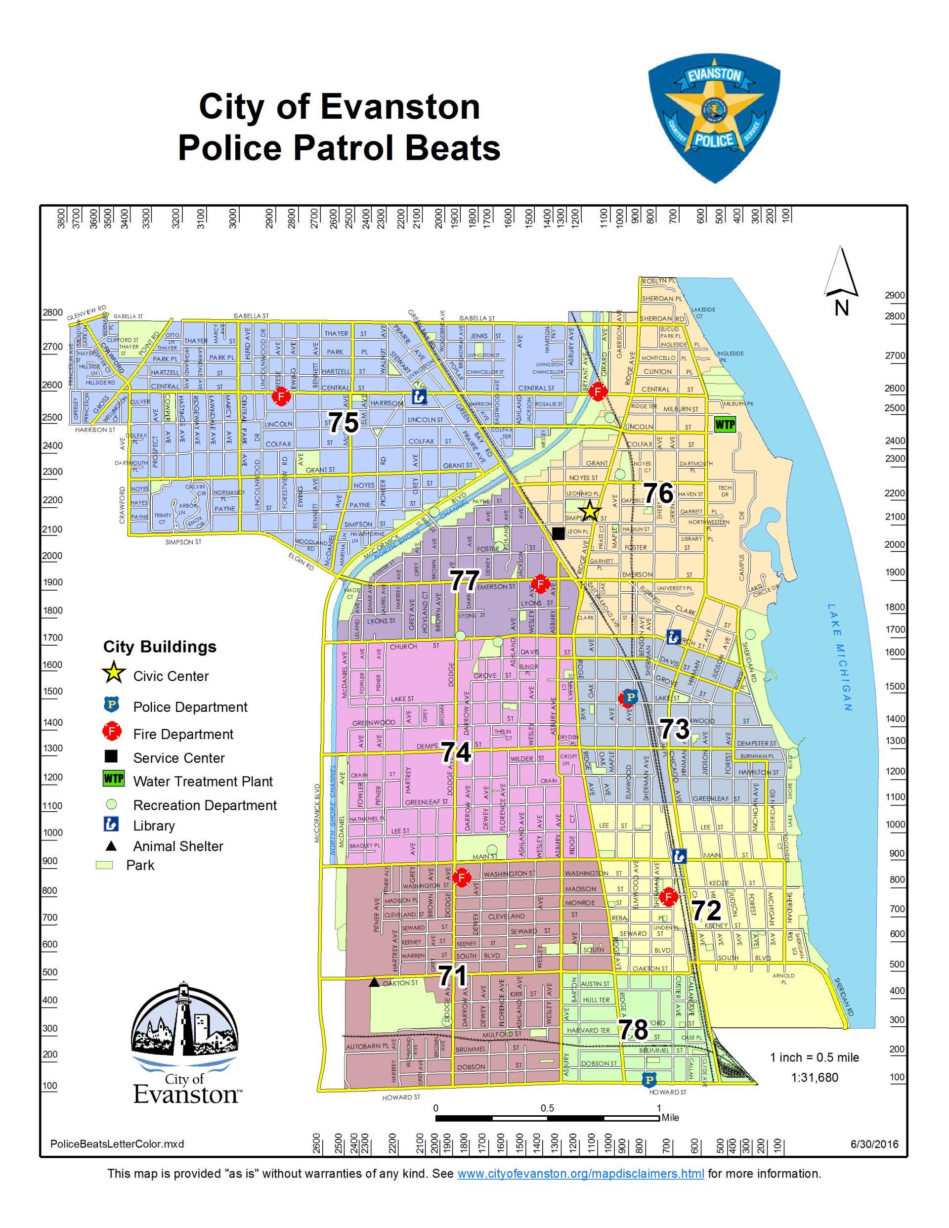Evanston Il Map Maps | City of Evanston