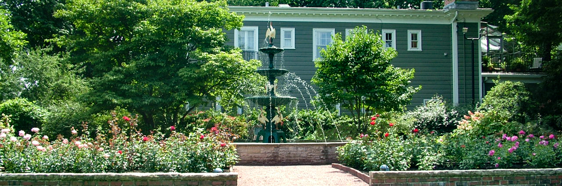Spring Garden with fountain