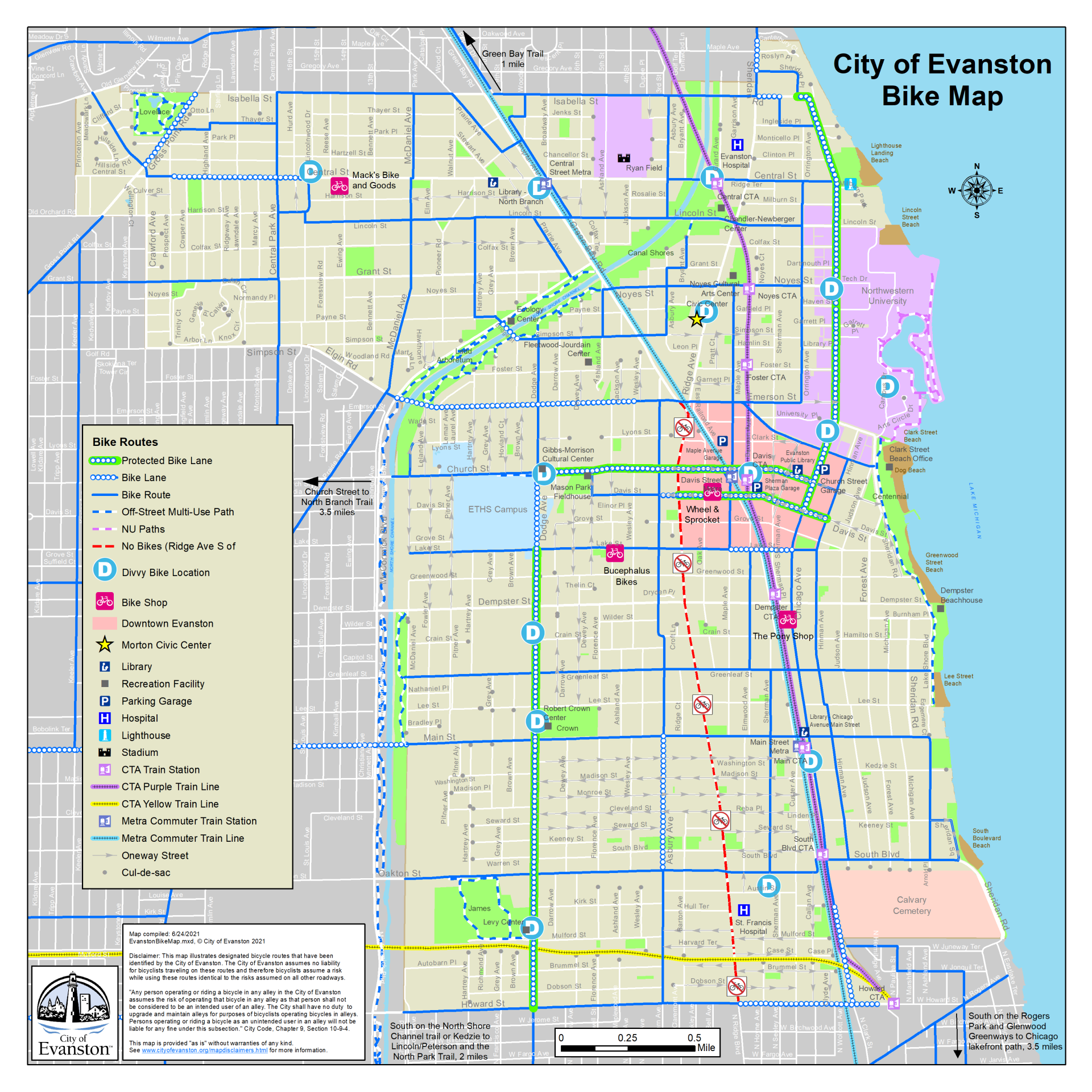 maps city of evanston