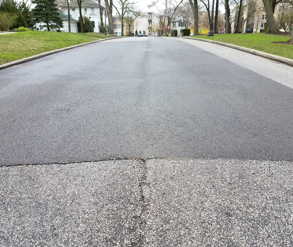 Asphalt Pavement Patching Begins