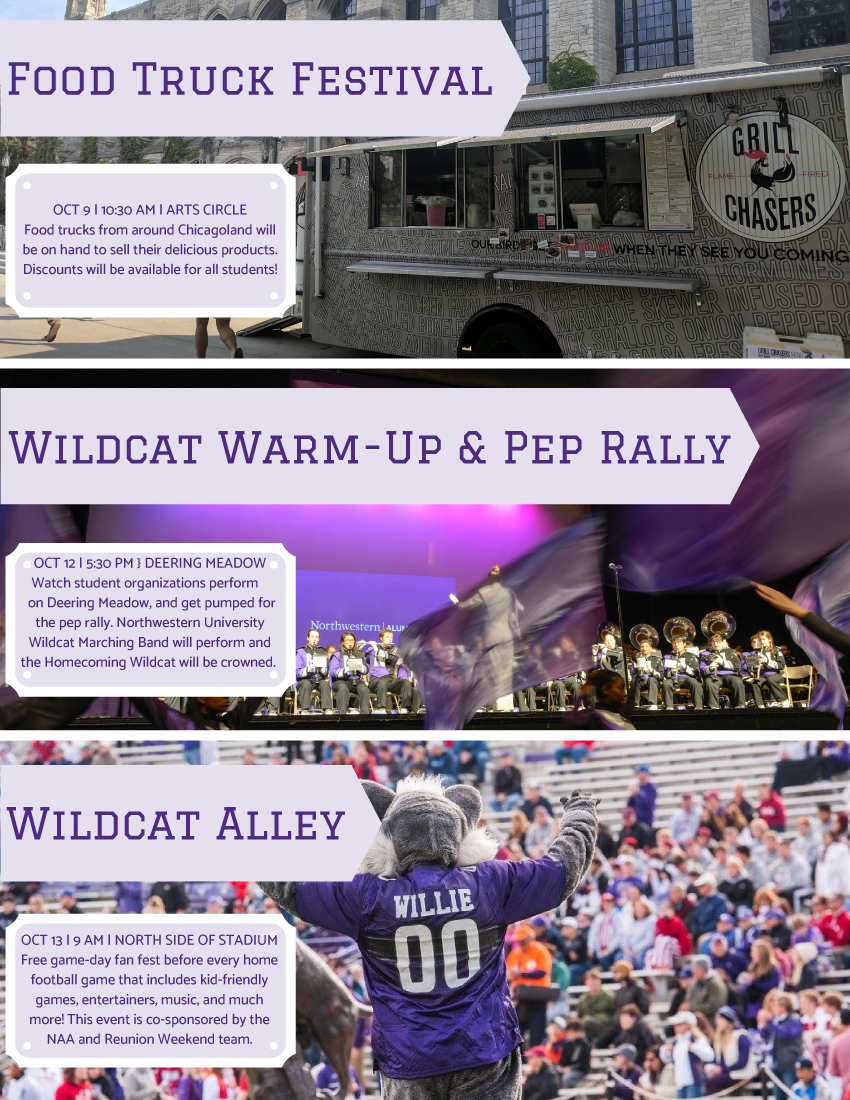 NU Homecoming Community Flyer
