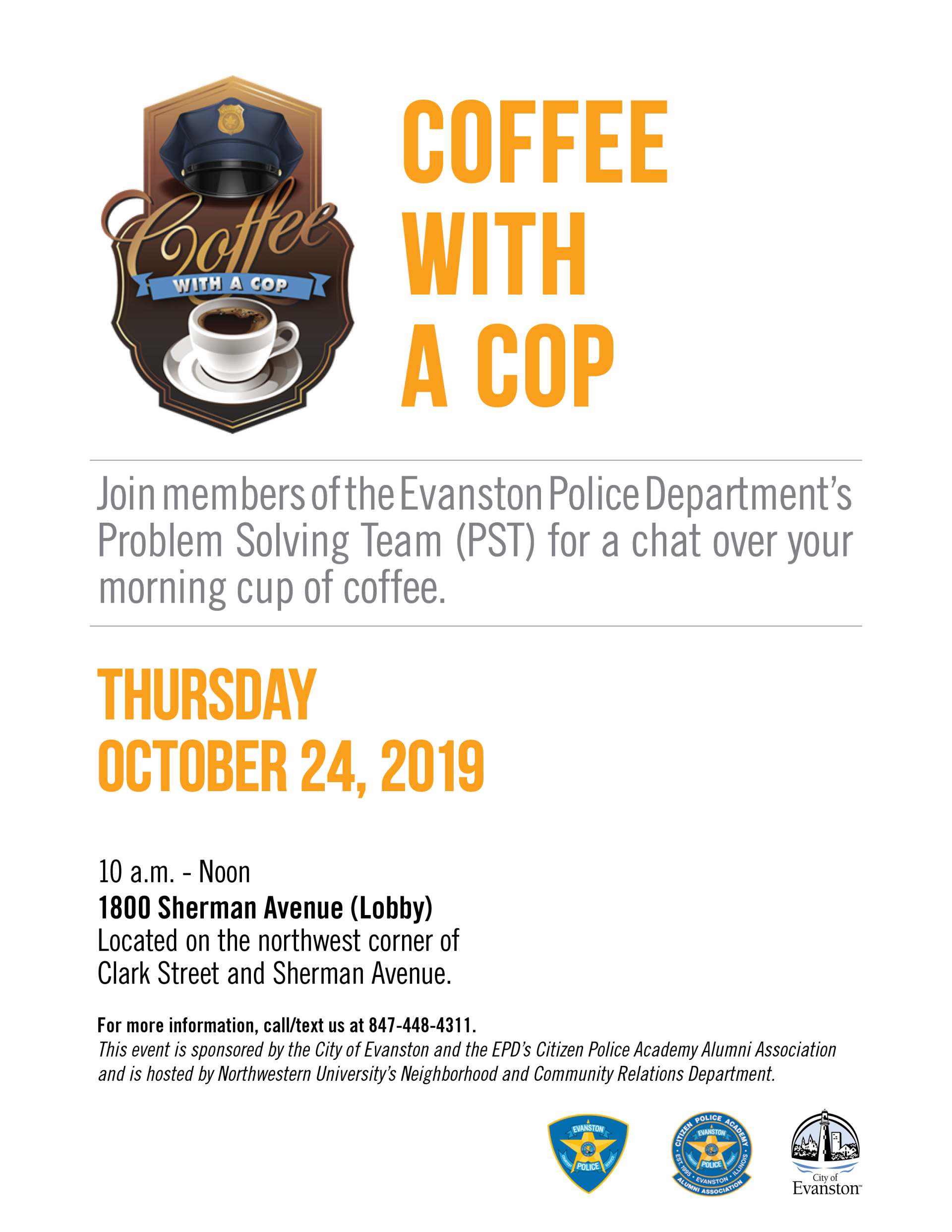 Coffee With A Cop Flyer_October 2019
