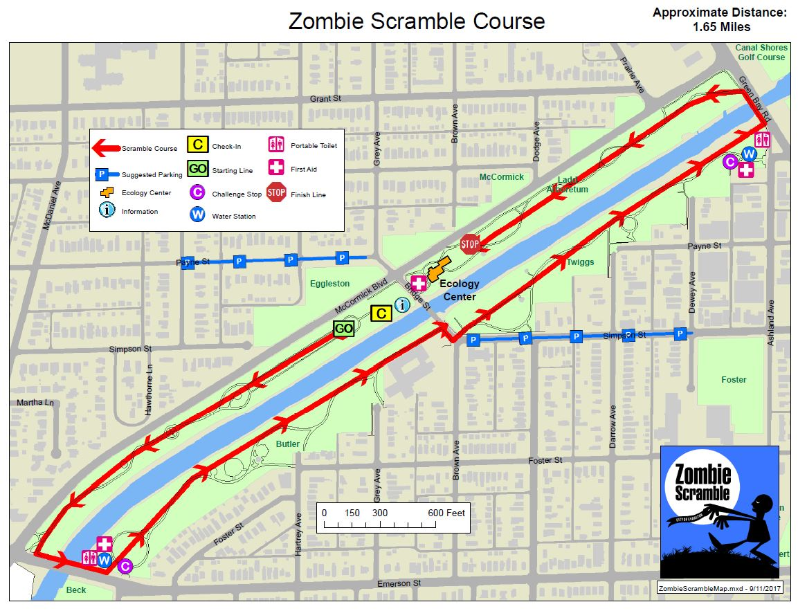 Zombie Scramble Course Map