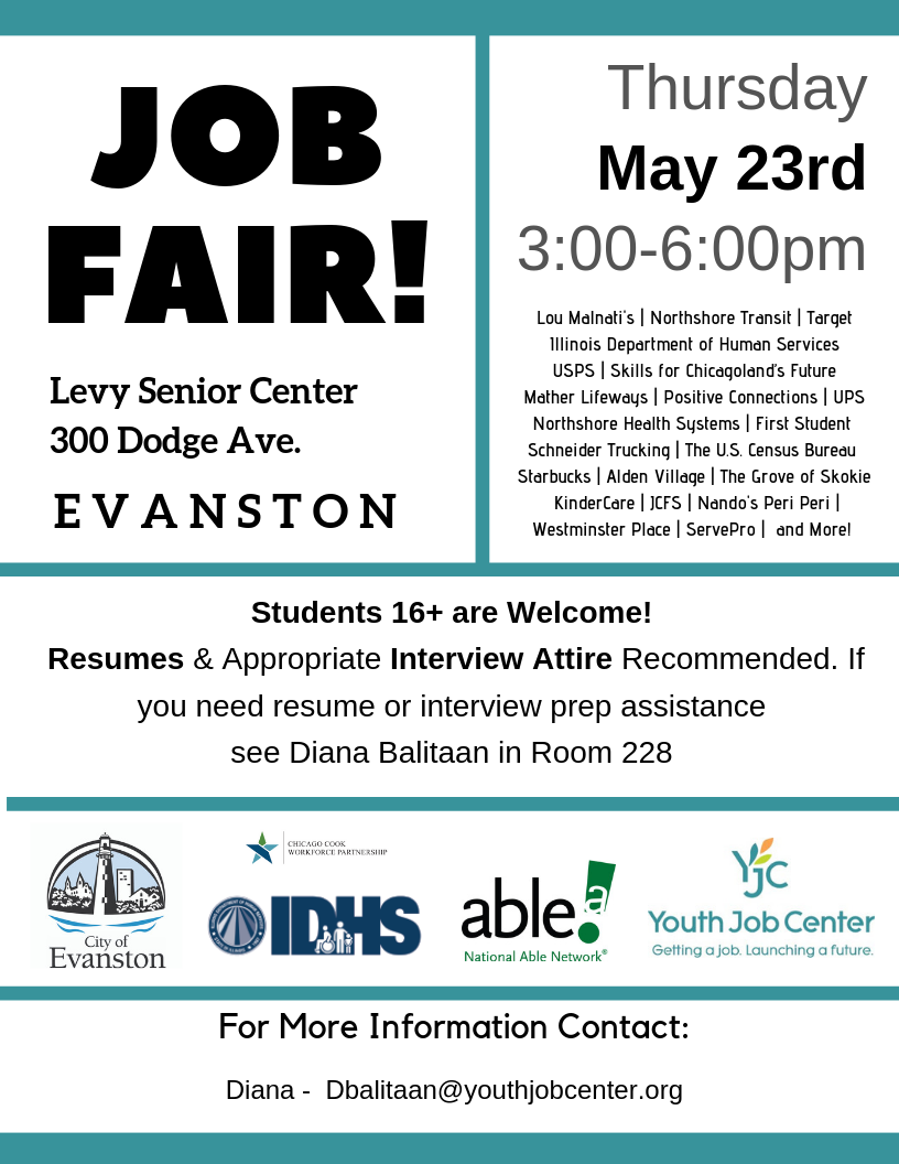 Evanston Job Fair May 23 2019