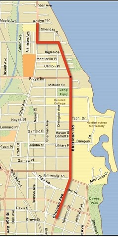 Sheridan Road - chicago cropped map2