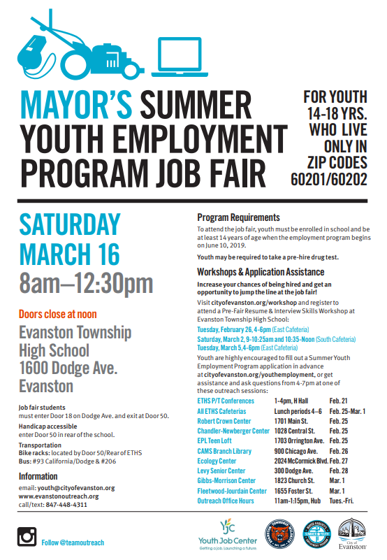 Mayor's Summer Youth Employment Program flyer